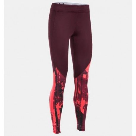 Legging padel largo de Under Armour color Burdeos Oscuro