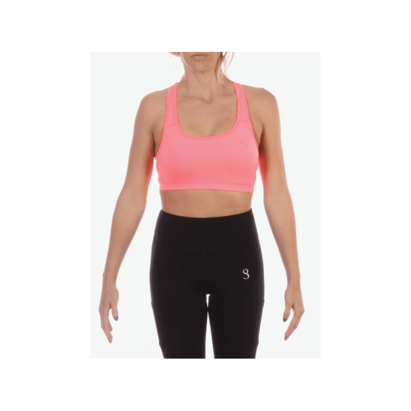 Top Bra Pádel Mujer Coral
