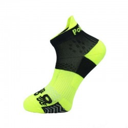 Calcetin padel tobillero negro y amarillo fluor
