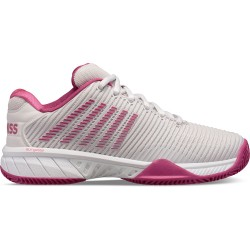 Zapatillas Padel Mujer | KSwiss Hypercourt Express 2Hb gris y Burdeos
