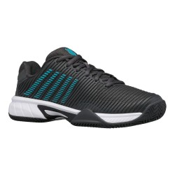 Zapatillas Padel Mujer Negro/gris y azul | Kswiss Hypercourt Express 2HB Jr.